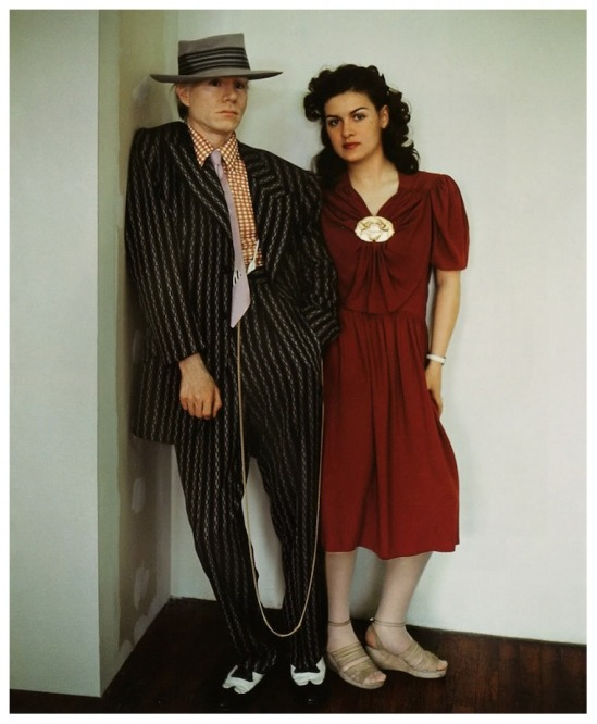 hollyhocksandtulips:  Andy Warhol and Paloma Picasso Photo by Jean Paul Goude