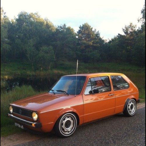 Just had to go for a drive… #vw #golf #vwgolf #mk1 #golfmk1 (Taken with Instagram at Halte Assel)