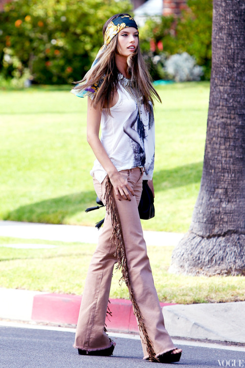 Alessandra Ambrosio out in Beverly Hills.
