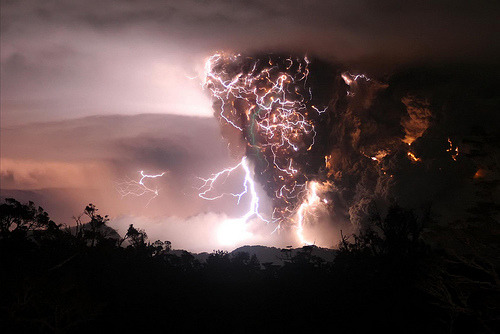 abatudes:  lightning vs. volcano by fmg2001