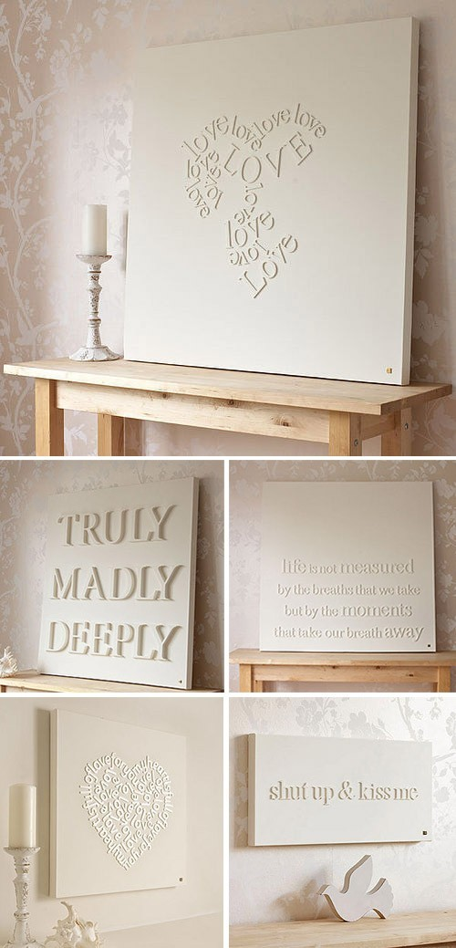 myfavmixtape:  DIY - Letter Canvas Tutorial using wood letters, spray glue and spray paint. Awesome!