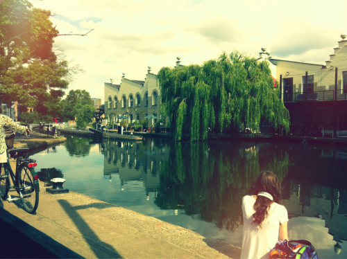 Sat enjoying the sun in Camden town, London earlier today. I love where I live <3