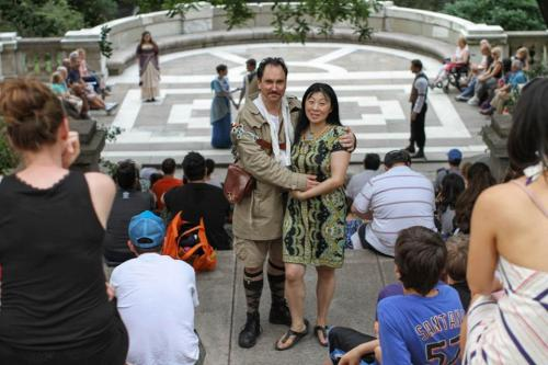 "humansofnewyork:  ""He was my first love. We dated for ten days when we were very young, but my mom would not allow the relationship. She told me: 'He's an American, and he's an actor. He'll never make anything of himself.' Then she told me: 'There are millions of men, but I'm your only mother.' She told me to never contact him again, and I listened to her.She took me to Korea for awhile, and when I came back, I never made contact with him again. I never even gave him an explanation. That was over twenty years ago. Then four years ago I Googled him. I saw that he was running a theater company. I wrote him a long letter out of the blue, explaining everything. We'd both been married. We both had kids. But here we are— finally together.""  This makes me want to cry from happiness."