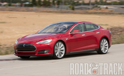 After a 10 minute drive in the 2012 Tesla Model S, it is looking more and more as though Tesla might become another of Elon Musk's successful launch after the Space X. (Souce: Road & Track)