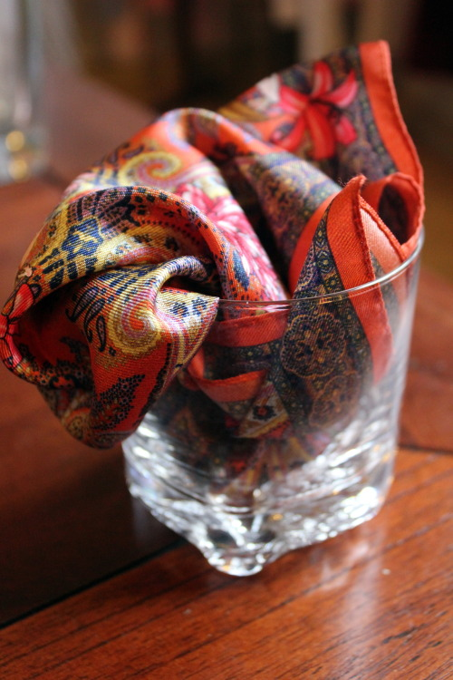 dresslikea:  Gifts from Florence - silk summer pocket squares from Sand S/S ´13 collection.