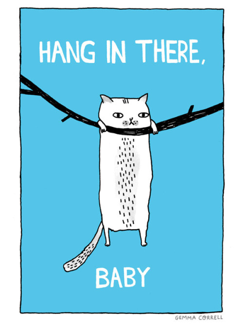 mismo:  hang in there, baby (by gemma correll) Loving gemma correll's illustrations so much.   I need this for my office.