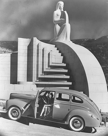 losangelespast:  The Muse of Music, Hollywood Bowl, 1941.