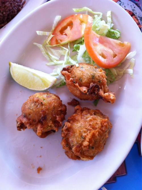 Cod fritters at Latin Cafe in Miami yesterday.