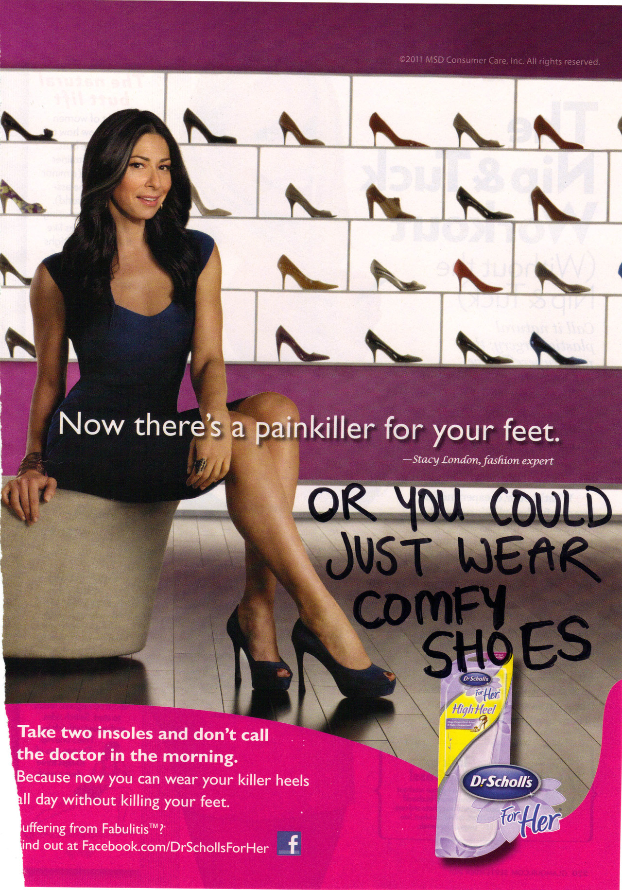 "ad-busting:  Seriously, if your high heels ""kill"" your feet - don't fucking wear them! There's nothing worse than a woman hobbling around in heels that are too tall, too wobbly, or just too painful.   This reminded me of a song Kat Edmonson sang last night with the lyric, ""I'll go through life/wearing entirely sensible shoes…"""