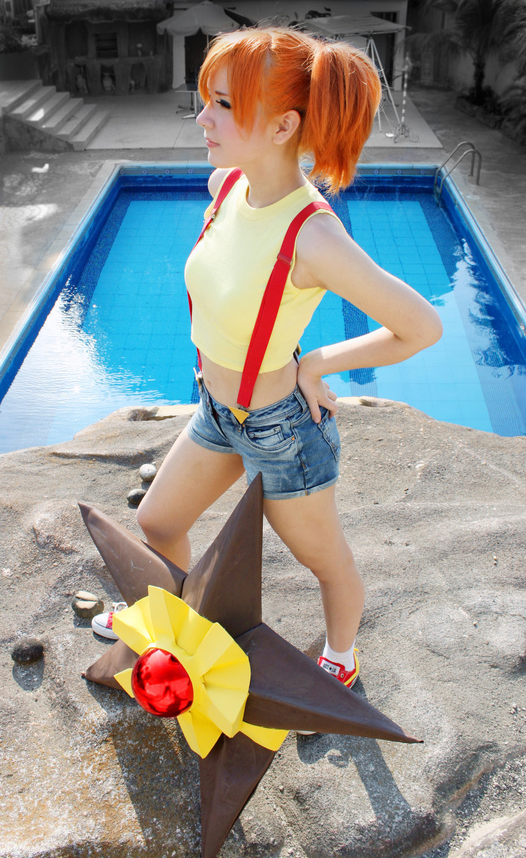 """come on Staryu, let's go kick some ass"" Misty Cosplay Pokemon - Gym Leader by ~SailorMappy"