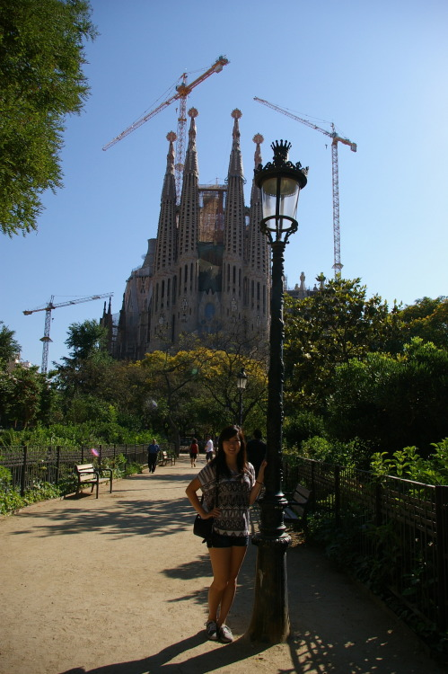 i am in complete awe of this building. something about gaudí's work gives me the chills and i cant explain why. its like… creepy but a good creepy…. i dunno. the sagrada is simply amazing… <edit> mmm whoops this was supposed to go on my travel blog but i will keep it here ahahah…. if you'd like to know how i'm doing please follow!  http://traveleatsleeprepeat.tumblr.com/