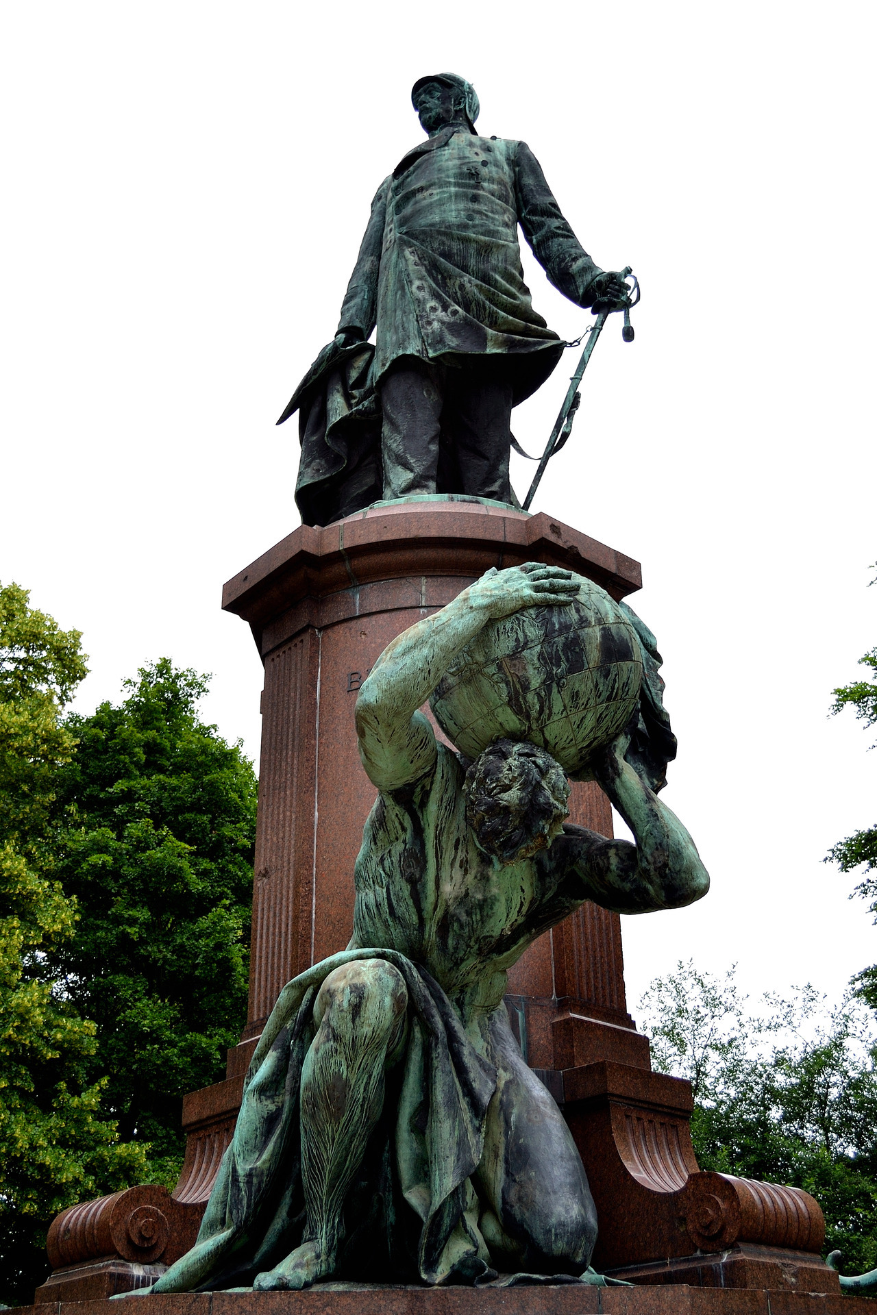 Statue of Bismark with Atlas at his feet, Berlin.