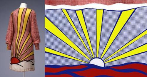 Roy Lichtenstein (textile design), Lee Rudd Simpson (dress design), Dress, c.1965. Collection of the Kyoto Museum Institute.