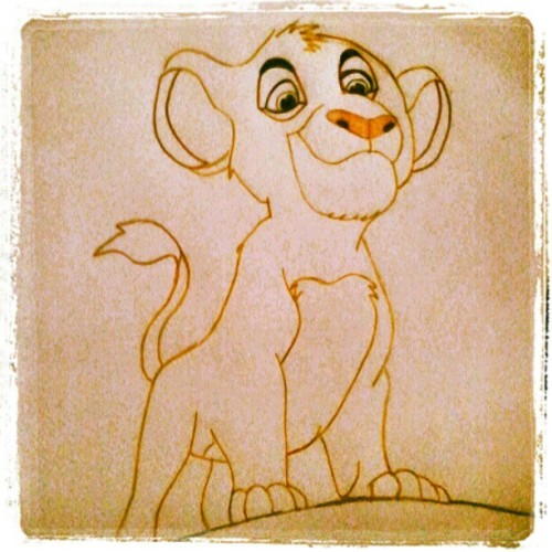 I laugh in the face of danger, hahaha. #art #lionking #simba (Taken with Instagram)