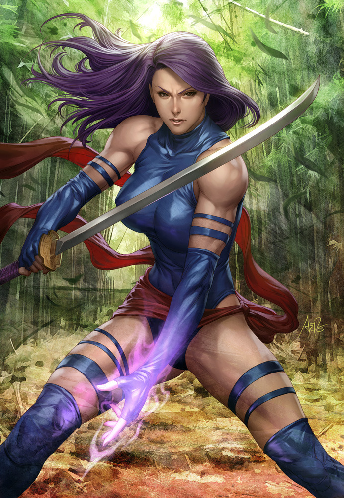 unknownskywalker:  Psylocke by Stanley Lau  WOW
