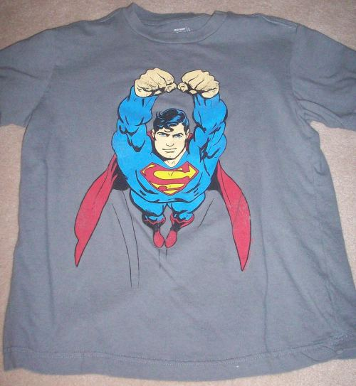 July 10th - I love superman, and I have a lot of shirts but this is definitely one of my favorites. To be honest I never really thought about which one I like best but I have had this one for awhile and it has always served me well. Haven't grown out of it yet.