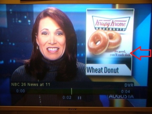 theamericankid:  When you see it  Ah, yet another news program falls victim to the careless Google Image Search mistake.    Looks like she's happy about that slogan.