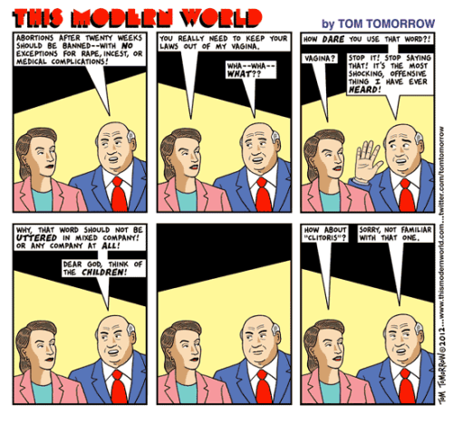 Unspeakable, by Tom Tomorrow