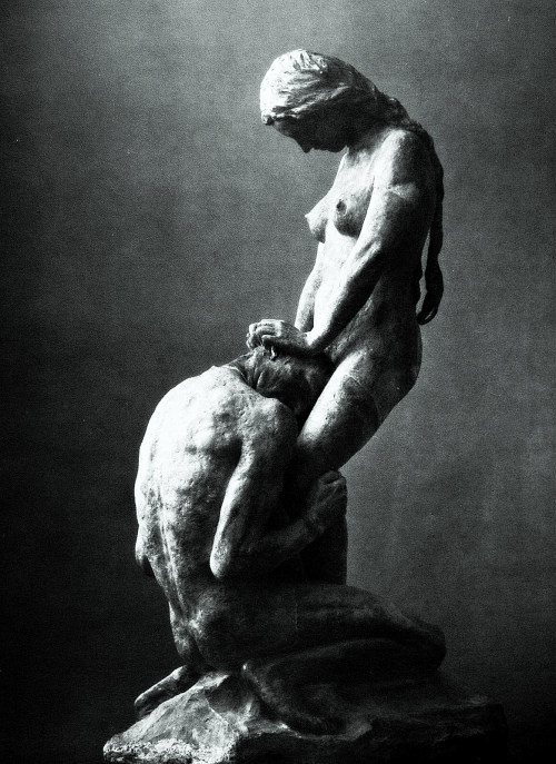 Gustav Vigeland Kneeling Man Embracing a Standing Woman