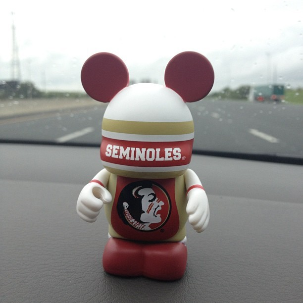 His Name is Jimbo #noles #gold #garnet #vinylmation #seminoles #fsu #disney  (Taken with Instagram)