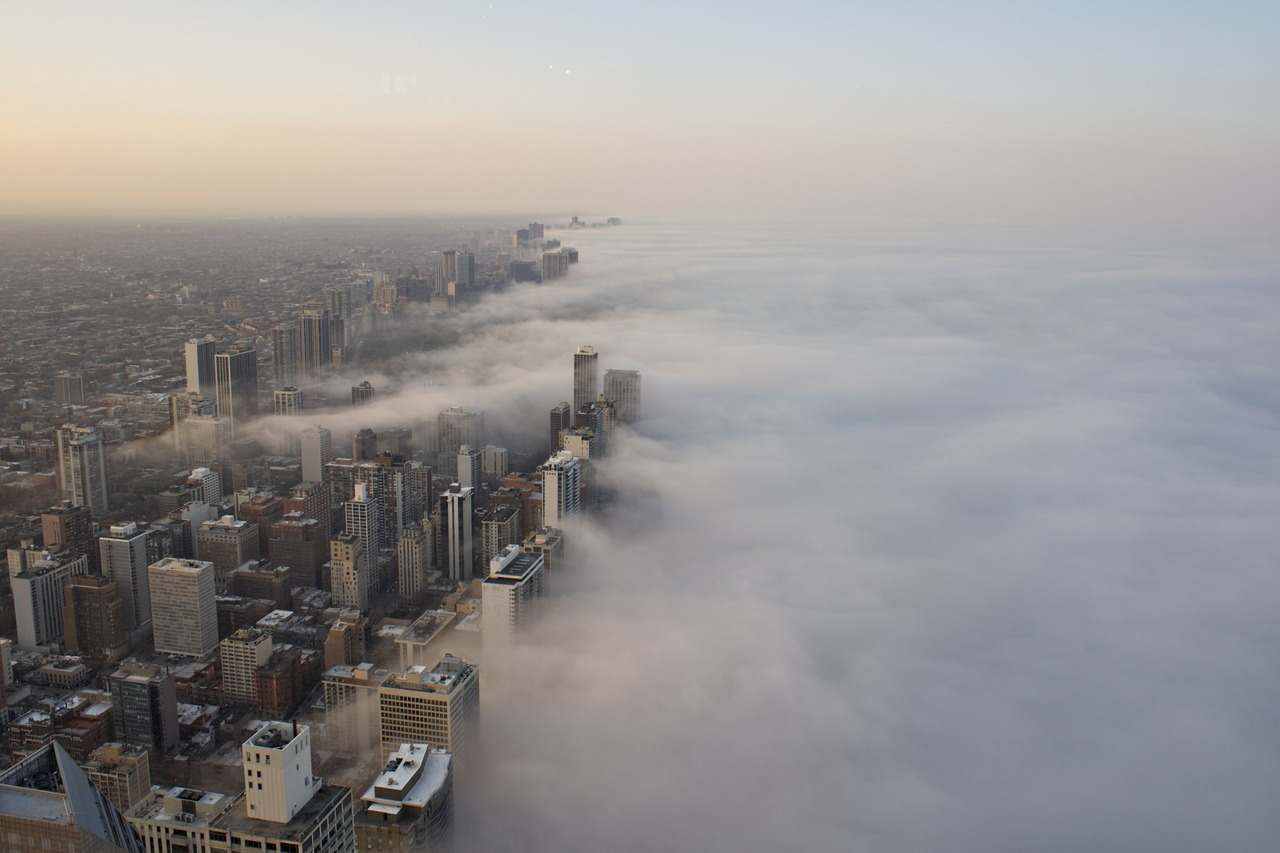 noahsiano:  Fog Sweeps the City by Noah Siano