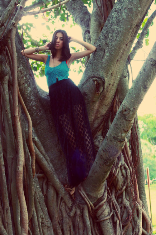 Swing Tree by Marie Carazas.  (Yeah, that's me—acting like I can model and what not)