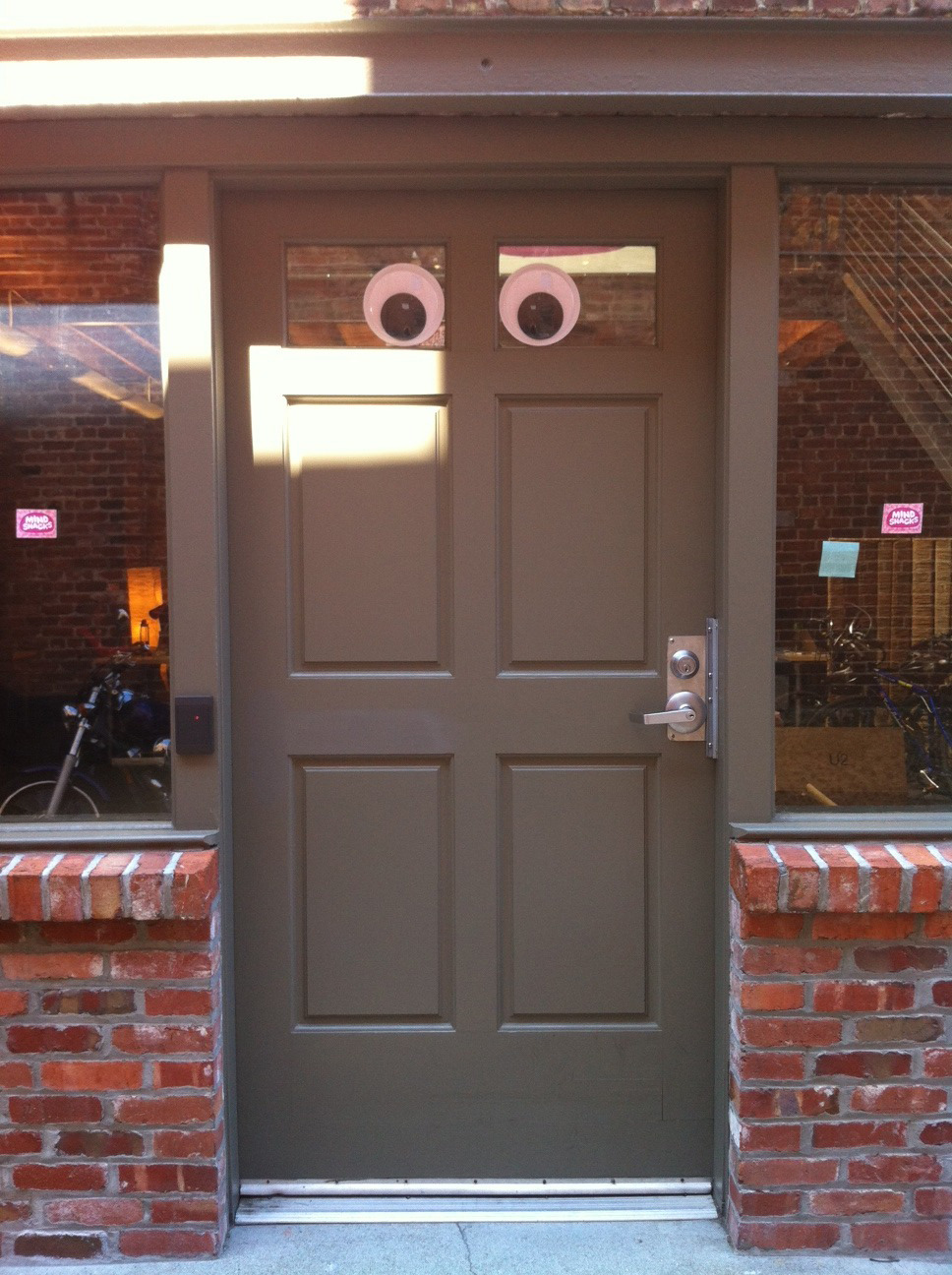 Our new googly eye'd security system at Mindsnacks is 100% adorable and 100% ineffective!