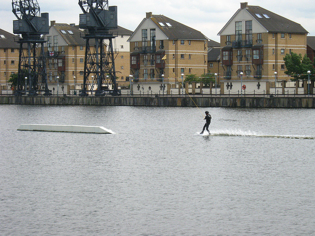 Royal Victoria Dock on Flickr.Walking on water?