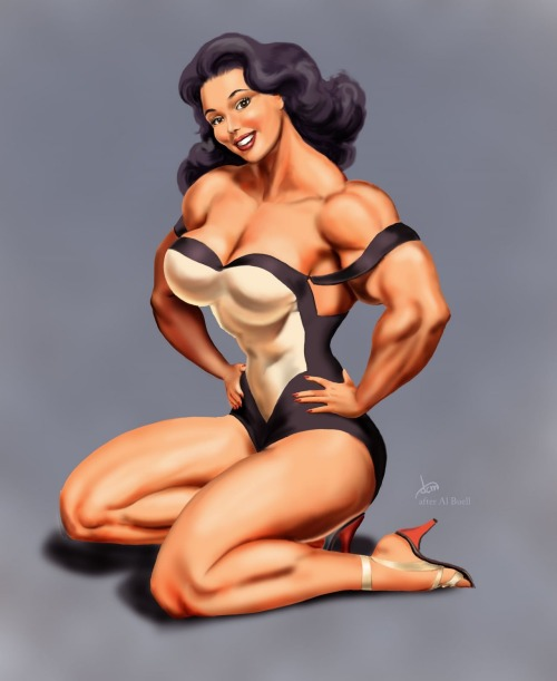 Wow! pepalatora:  female muscle pin up!