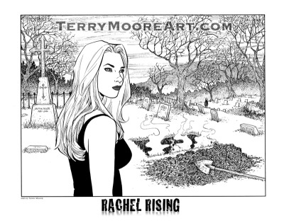 The 2012 Rachel Rising Print for San Diego Comic Con. If you can't attend the con, these will be available for order at my website July 17, after the show.  14 X 11 inches. Price $10. Can you find the naked lady?