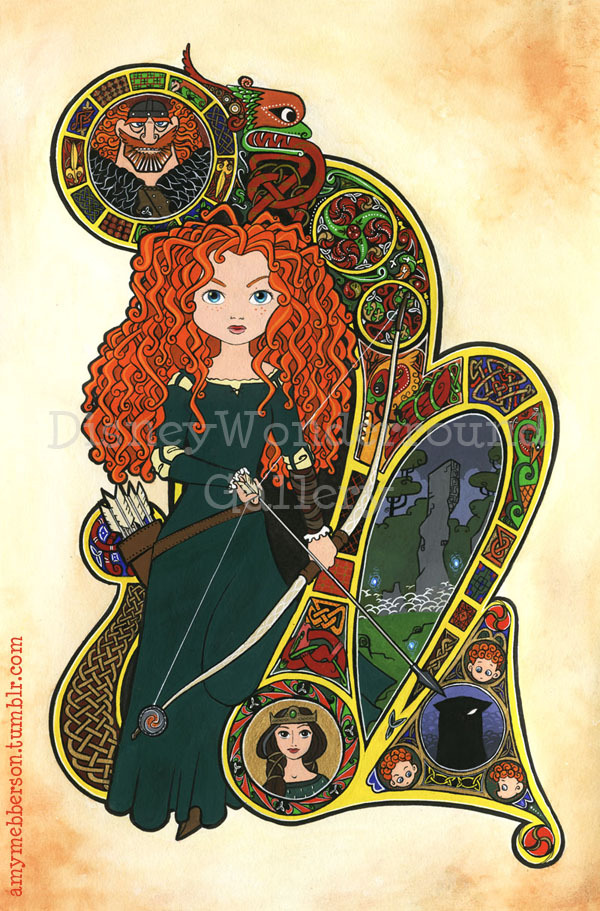 Hey, can't get enough of Merida now that we can FINALLY see Brave? Remember that THIS is available for sale at Disney Wonderground Gallery in Downtown Disney Anaheim If the price of the original is a little out of reach, they ALSO sell lovely fully-matted prints of the same picture for a fraction of the cost.