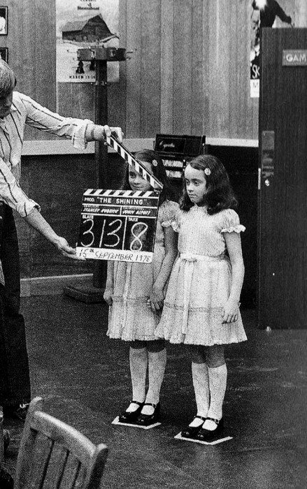 Twins Lisa and Louise Burns on the set of Stanley Kubrick's The Shining, 1980 (via ellerogers, c0untessbathory)