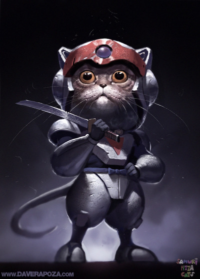 Samurai Pizza Cats by *DavidRapozaArt