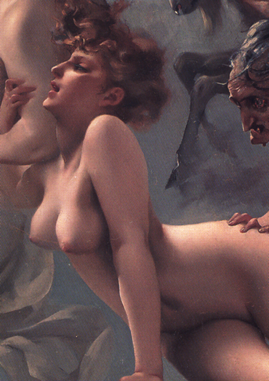 snowce:  Luis Ricardo Faléro, Departure of the Witches (detail), 1878