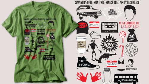 What's your favourite Supernatural moment? Please vote for this design to be printed at Othertees. VOTE