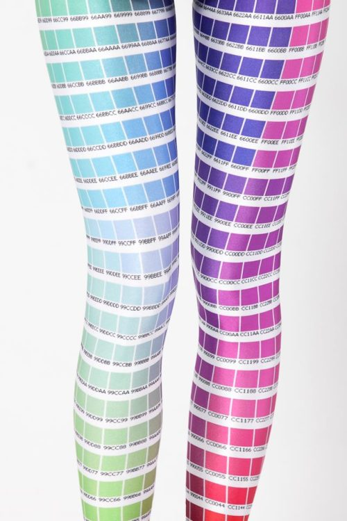 Color Chart Leggings  Leggings like this are the only reason not to get a mermaid tail surgically installed.