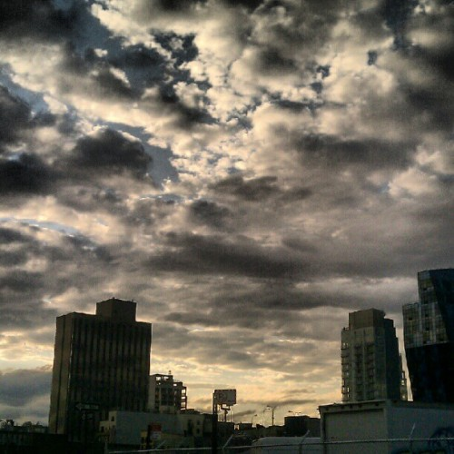 Home is on the other side of those clouds.. (Taken with Instagram)