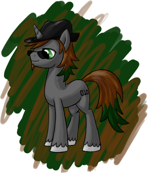 Commission #4 An OC pony called Bit Rate