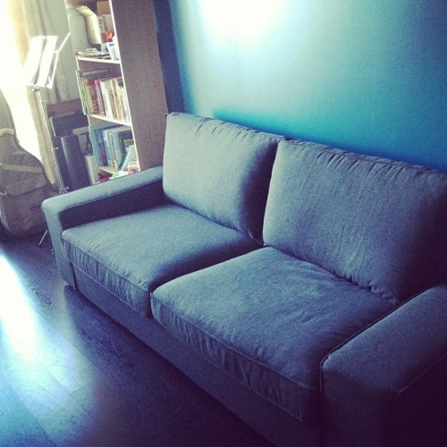 After 8 months we finally get a couch haha (Taken with Instagram)