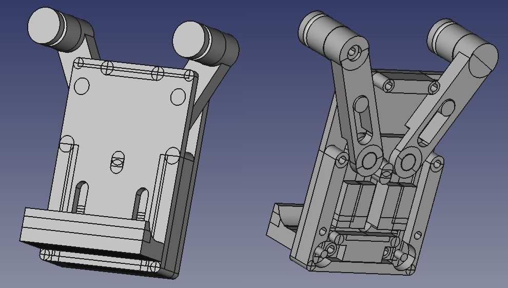 The first design of universal smartphone holder for my motorbike.