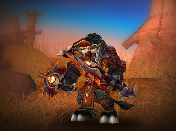 Jamez, Destroyer's End Male Tauren Shaman EU Darkspear [Drakesfire Epaulets] [Garmaul Chestpiece] [Tabard of the Achiever] [Dragonbelly Bracers] [Garmaul Fists] [Scarlet Belt] [Scarlet Leggings] [Blood Knight Boots] [Rising Tide] [Rising Tide]