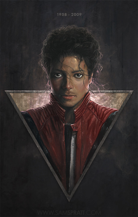 "samspratt:  ""RIP Michael Jackson"" - Portrait by Sam Spratt Today marks the anniversary of the King of Pop's death. I thought I'd pay tribute."