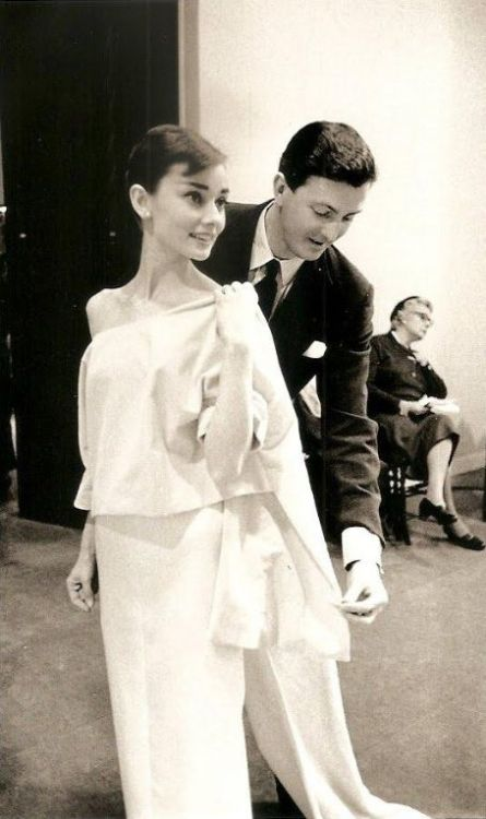 Audrey Hepburn and Hubert de Givenchy.