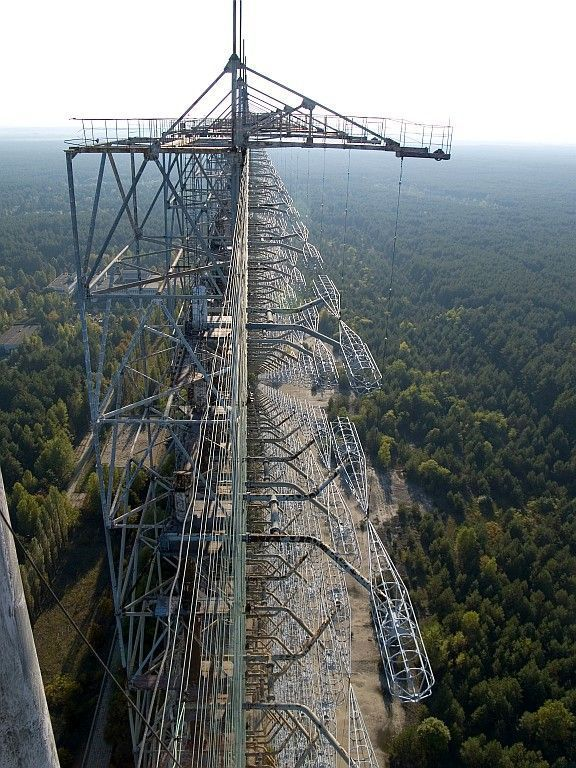 olivermatich:  Abandoned Duga-3 radar array in the Chernobyl Exclusion Zone.