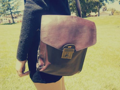 I got this nifty satchel for $6 from a small thrift store near Bodega Bay :)                                                                                             ~Juliette