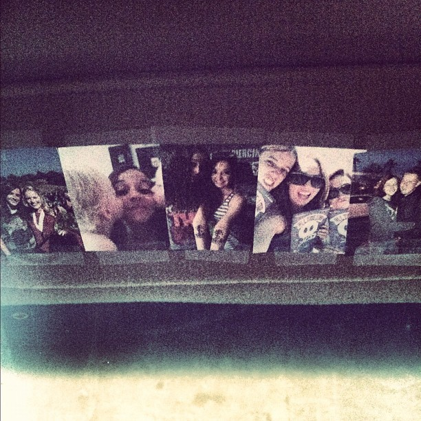 All my favorite people on the visor of my car!  (Taken with Instagram)