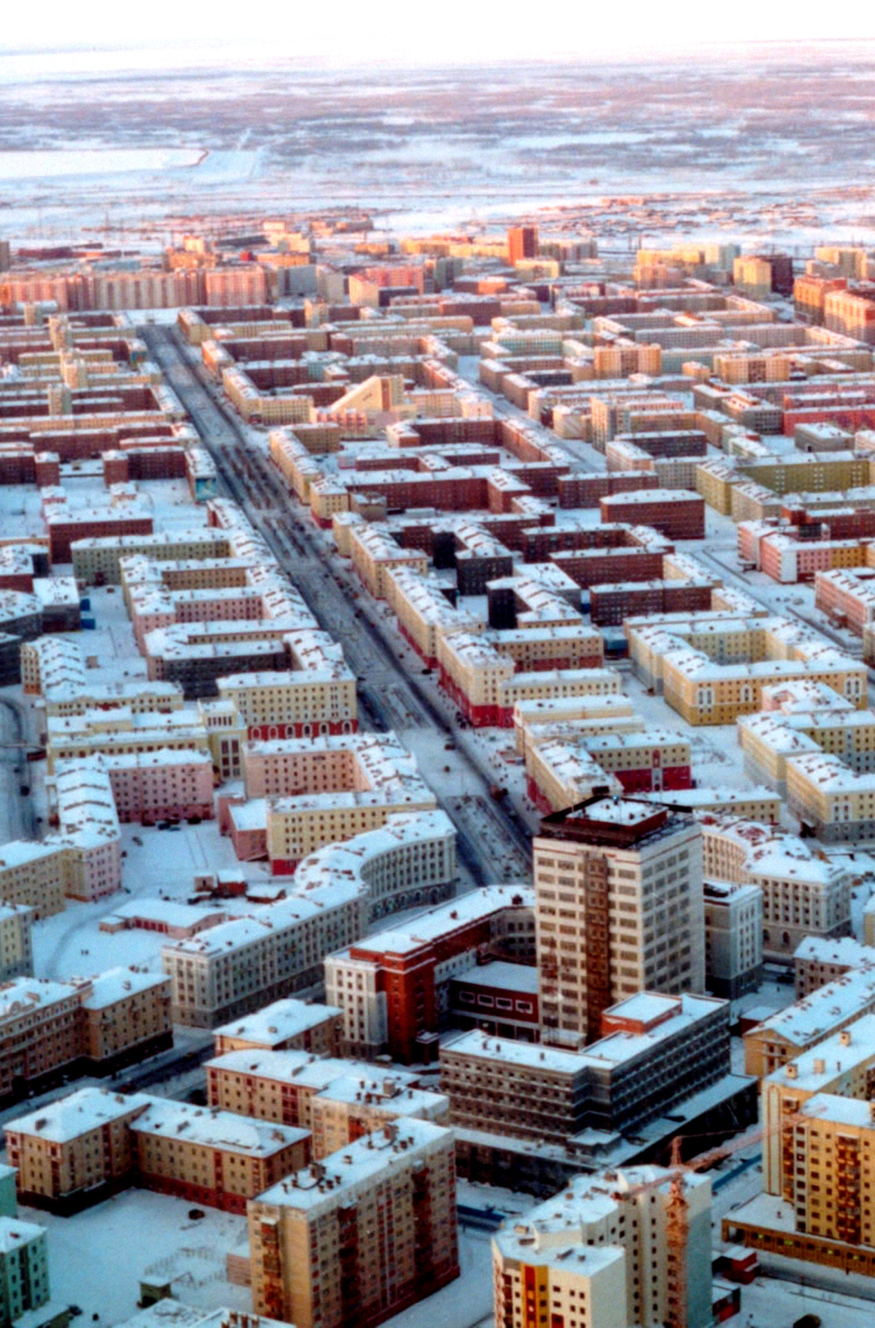 Norilsk, Russia in snow