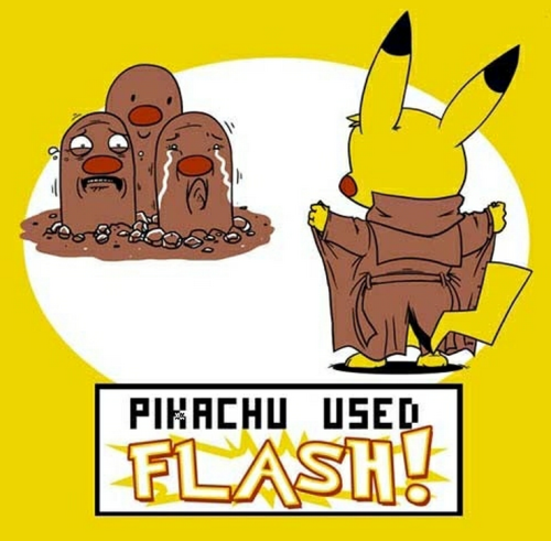insanelygaming:  Pikachu Used Flash Created by Shark Robot