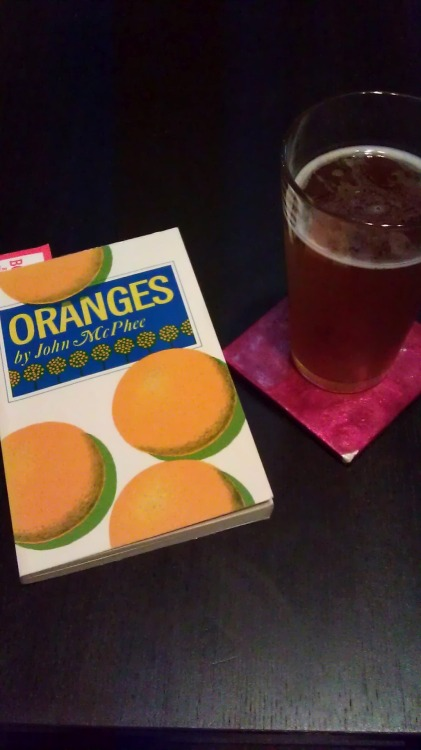 Book: Oranges by John McPhee Beer: Shock Top Wheat IPA