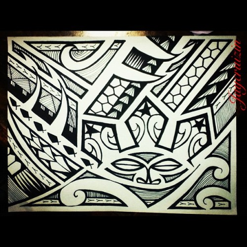 @jackosurla #tribal #tatau #pinoy #poly #art #artwork #humble #sun 🐯 (Taken with Instagram)